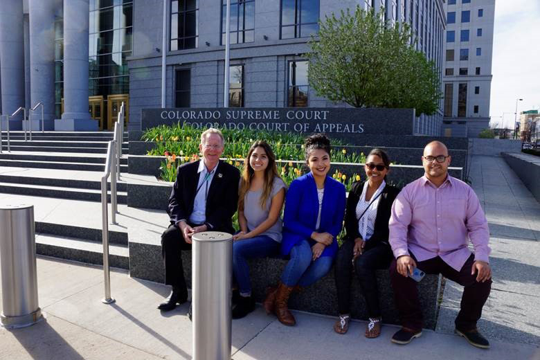 CSU Water Sustainability Fellows visit the Colorado Supreme Court to learn about water law from retired Colorado Supreme Court Justice Greg Hobbs.