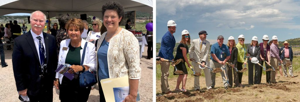 Dr. Lou Swanson, Kathay Rennels and Jane Robbe Rhodes at the Groundbreaking Ceremony for the Collaboration Campus